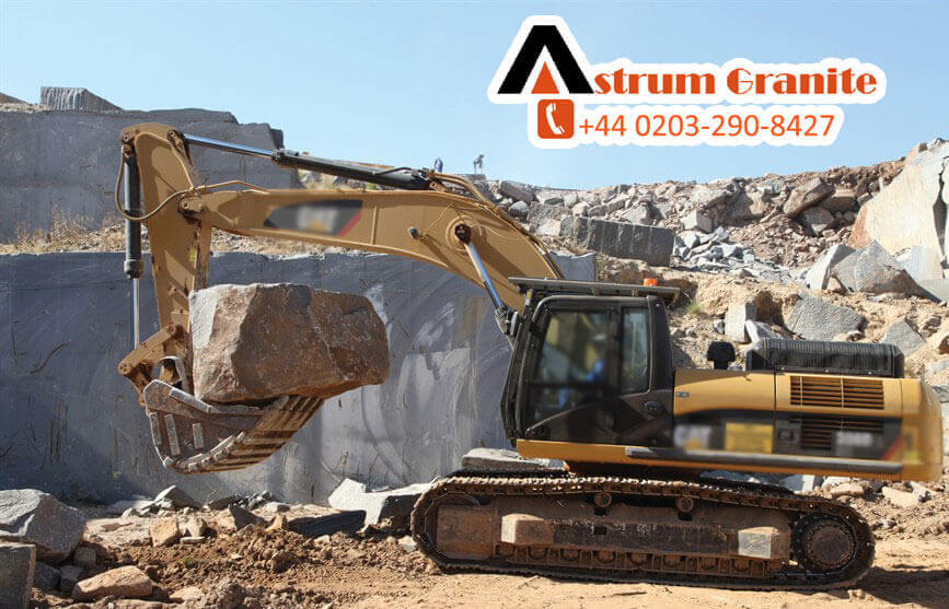 Every natural rock seller on the web wants to provide the best kitchen material for the customers as well as serve the right and correct information about the products. By remembering this Today Astrum Granite Team share with our viewers some information's about the material. Today we'll discuss about the Difference between a quartz worktop and granite worktop. We always saw that many customers face the lots issues or queries of whether to purchase a quartz worktop or granite worktop and always often want to know what the difference both of Natural rocks material. If you are one of them who have this kind of queries, so don't worry about that now in this blog we gonna share with you and resolve this issue the differences between a quartz and a granite worktop. First we talk about the Granite Worktops Do you know the interesting thing about this natural rock? You don't' believe that as we told you above about the It's a natural rock and you know what It's come in the below the earth ground over millions of years. And, now you must be thinking that how do you get it out of earth? Right, so tell you clearly it's quarried out of the ground in blocks the size of a mini bus. Below the picture you can see that how it's look when it's come out the below earth surface.
